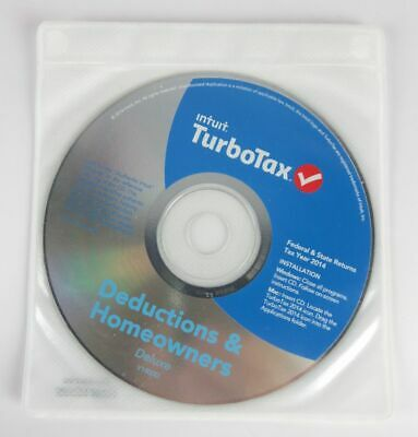 Intuit TurboTax Deluxe Federal State 2014 Windows Mac