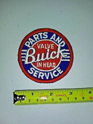 VINTAGE Embroidered Automotive Gasoline Patch UNUSED - BUICK PARTS AND SERVICE