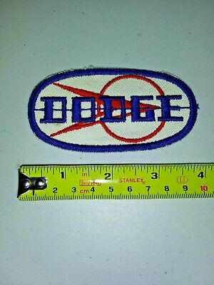 VINTAGE Embroidered Automotive Gasoline Patch UNUSED - DODGE