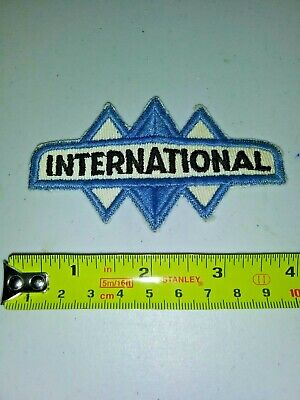 VINTAGE Embroidered Automotive Gasoline Patch UNUSED - INTERNATIONAL small