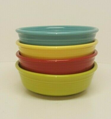 Fiestaware Mixed Color Small Bowl Lot of 4 Fiesta Small Cereal Bowl 4C10M16