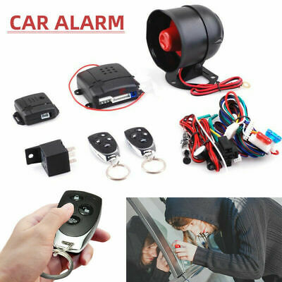 1 Way Car Alarm Security System Pager LCD Remote Control Keyless Entry 12V 15W