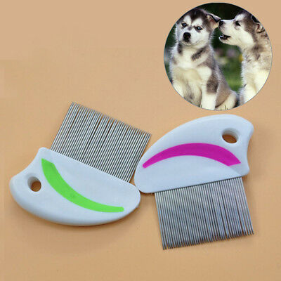 Stainless steel needle comb hair brush shedding flea for cat dog pets trimmer BD