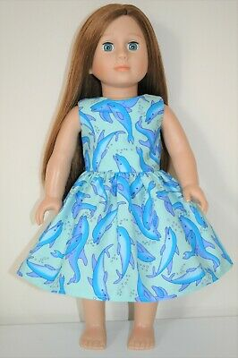 18 Inch Dolls Clothes American Girl Doll Our Generation Dolls Dolphin Sun Dress