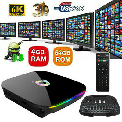 SMART TV BOX Q Plus ANDROID 9.0 Allwinner H6 4GB RAM 64G 6K IPTV 2.4G WIFI H.265