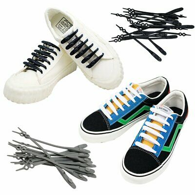 Kids Adults Silicone Shoe Laces Rubber ShoeLaces for Trainers Snickers UK