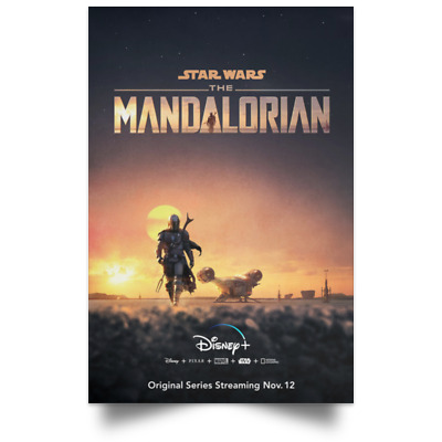 Star Wars The Mandalorian TV Movie Poster Size 16×24 24×36