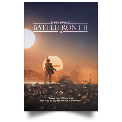Star Wars Battlefront 2 TV Movie Poster Size 16×24 24×36