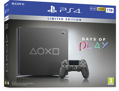 Ps4 Console 1Tb Days Of Play Limited Edition 2019 Sony Play Station 4