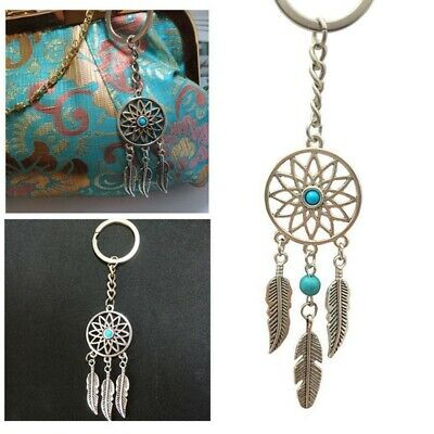Silver Keychain Feather Tassels Dream Catcher Keyring Key Chain Ring Gift Hot