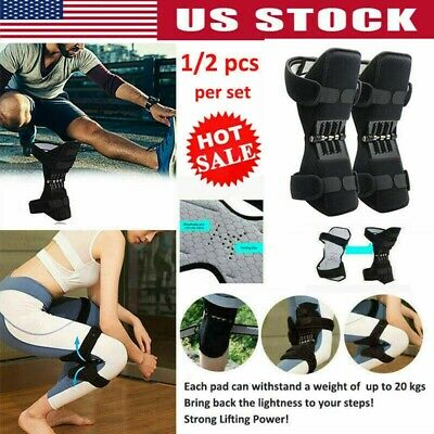 Joint Support Brace Knee Pads Booster Lift Squat Sports Power Spring Force US