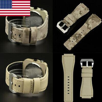 Watch Band Strap Nylon Fabric Canvas Sports Wristwatch Bands Desert Digital 24mm