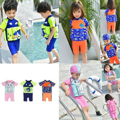 Multipurpose Soft Stretch Kids Child Floatation Swimsuit Swimming Clothes