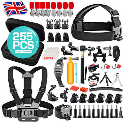 255x GoPro Hero 7/6/5 SJCAM Accessories Kit Action Camera Mount Accessory Bundle