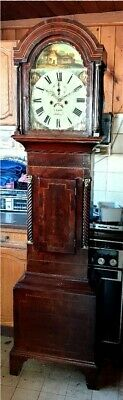 A Victorian Mahogany & Inlaid Longcase Grandfather Clock C1840