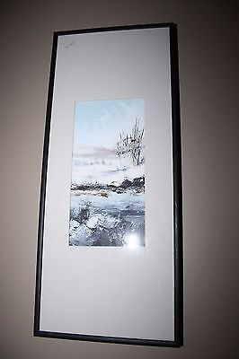 Serge Paque Painting Acrylic ? Listed Quebec Canadian Artist Winter Landscape