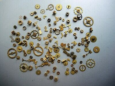 Job Lot of Vintage CLOCK Watch Parts Knobs Gears ART Steampunk Repair RESTORE c