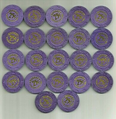 CARSON CITY NUGGET CASINO, CARSON CITY, NV - OBSOLETE CASINO CHIPS - lot of 22