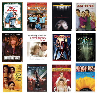 Preowned Dvd Movies Original Disc Jackets Large Selection Of Films Over 200 Used