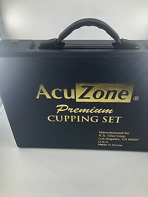 Complete AcuZone Premium Quality Cupping Set 19 Cups 10 Acupressure Pointers