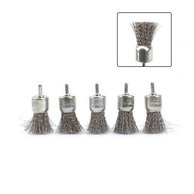 10Pcs Stainless Steel Pen Shape Wire Brush Polishing Rotary Tools 6mm shank