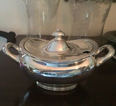 International Silver Soldered Gravy Boat Sauce Tureen w Lid Serving Hotel 02000