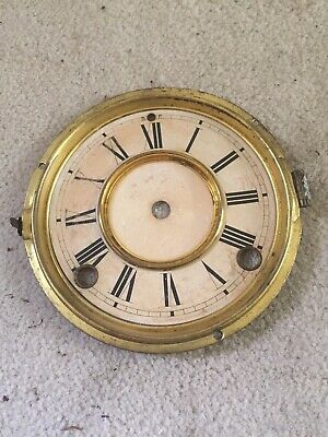 "Antique Ansonia Gingerbread Clock Face  And Bezel 5.25"" Diameter"