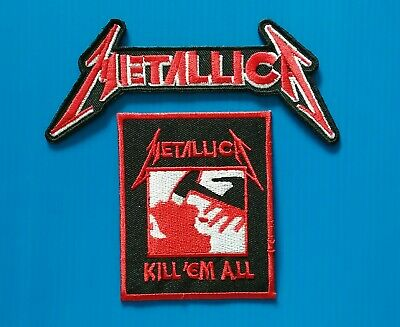 2 LOT METALLICA THRASH METAL Embroidered Iron Or Sewn On MUSIC Patches Free Ship
