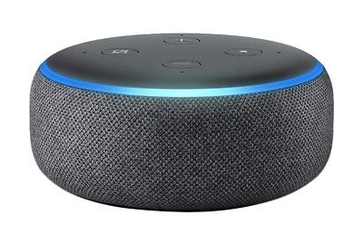 All-new Echo Dot (3rd Gen) - Smart speaker with Alexa - Charcoal Fabric - *New!