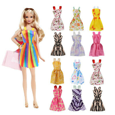 Fashion Casual Party Dress Wedding Gown For Barbie Dolls 22pcs/set Girls Gift #