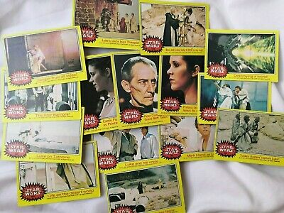 Star Wars 1977 Yellow Topps cards x 15