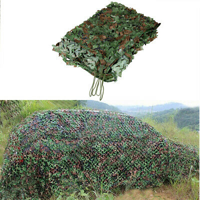 16.4x5.25ft Camouflage Netting Net Woodland Blinds for Military Sunshade Hunter