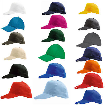 Baseball Cap With Classic Adjustable Fastner  Mens Ladies Sun Summer Hat
