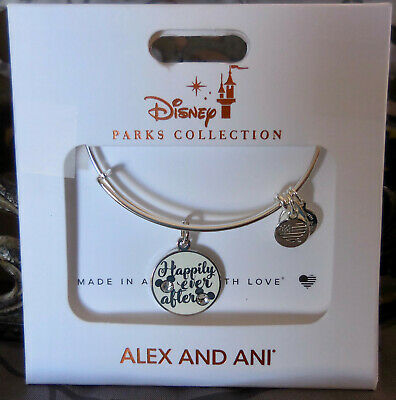 ALEX and ANI ~Happily Ever After DISNEY 2019 Silver Bangle Bracelet~ NWTC $45
