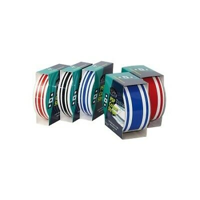PSP marine colour 3-stripe tape 44mm x 10m red