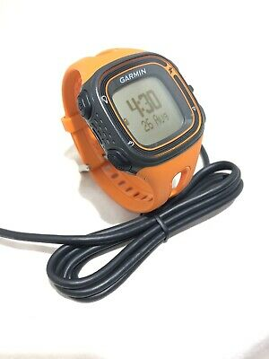 Garmin Forerunner 10 GPS Mens Running  Sport Watch & Charger  Black /Orange Work