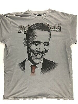 Rollings Stones Issue 1056/1057 Barrack Obama T-shirt Size XXXL A1-098