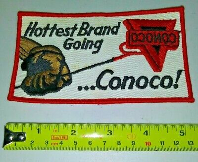 VINTAGE Embroidered Automotive Gasoline Patch UNUSED - CONOCO large