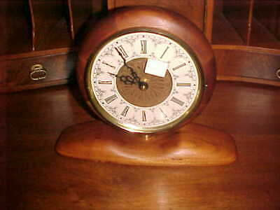 Art Deco Mantle Clock With Hand Made Black Walnut Casing Gorgeous Clock 9 X 11