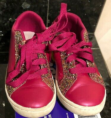 Shimmer and Shine Lace Up Shoes Toddler Size 9 Fuchsia Dark Pink