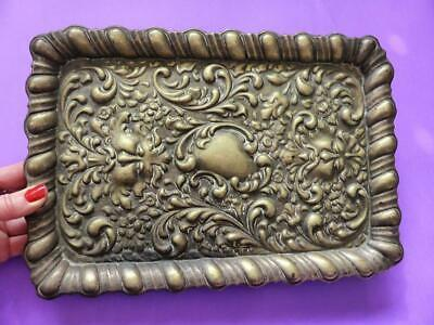 Antique Silver Plated Serving Tray, Victorian Decor, Decorative EPNS Platter