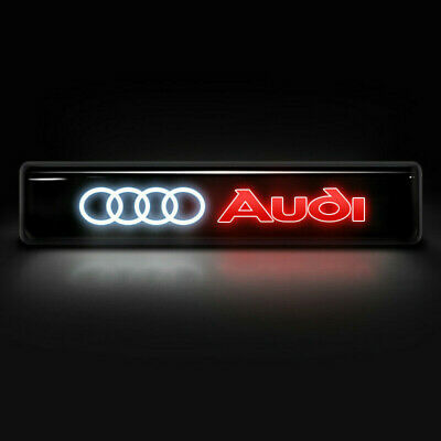 Front Grille Badge Illuminated Decal Emblem Logo LED Light Car For Audi A6 A7 Q5