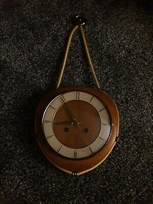 Rare Vintage/Antique  German Kienzle Clock Nautical themed Chiming Brass/Wooden
