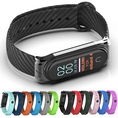 Wristband Mi Band 4 3 Wrist Strap Carbon Fiber Texture For Xiaomi Mi Band 4 3