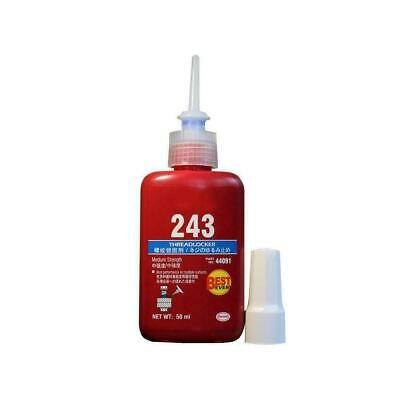 Blue Liquid Medium Strength 243 Threadlocking Adhesive 50ml B3S1