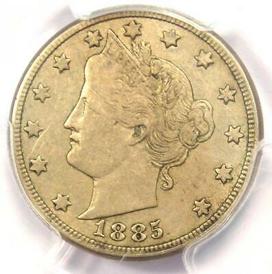 1885 Liberty Nickel 5C - PCGS XF Details (EF) - Rare Key Date Certified Coin!