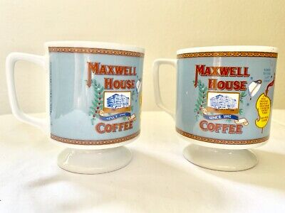 Vintage MAXWELL HOUSE COFFEE Cups Mugs 1970's