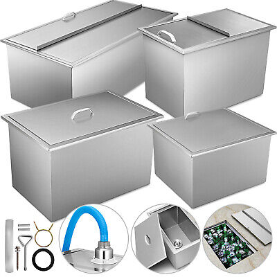 Drop In Ice Chest Bin 7 Sizes With Cover Stainless Steel 304 Juicer Chiller