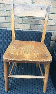 Vintage Solid Wood Childs Shool Chair L@@K