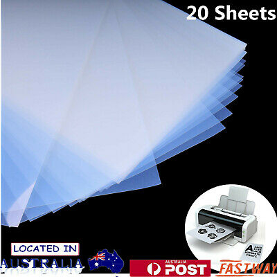 20/100Sheets Inkjet Translucent Film A4 Waterproof for Screen Printing AU